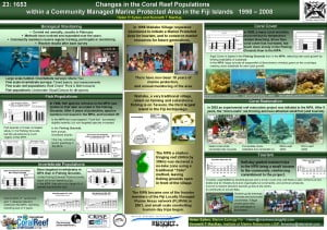 Waitabu at the International Coral Reef Symposium (ICRS)