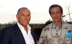 Bruce Raymond with RC's Gregor Hodgson